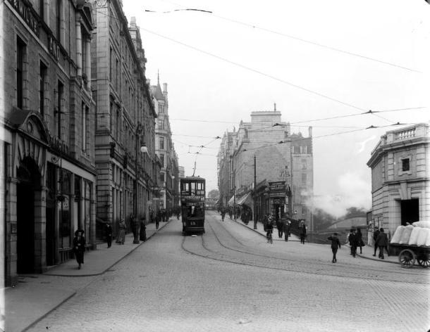 Bridge Street Aberdeen looking to Union Street GB 0231 MS 3792/D1514