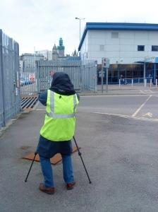 Hi-viz, Northlink Ferry Terminal, Aberdeen Harbour, March 2015.