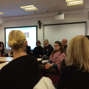 "Workshop with Tanja Ostojic at the University of Aberdeen: ""Misplaced Women?"" Photo by Amy Bryzgel"
