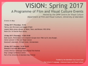 VISION events – Spring 2017